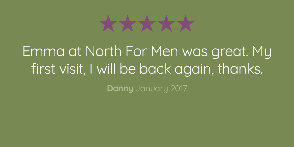 North For Men customer review