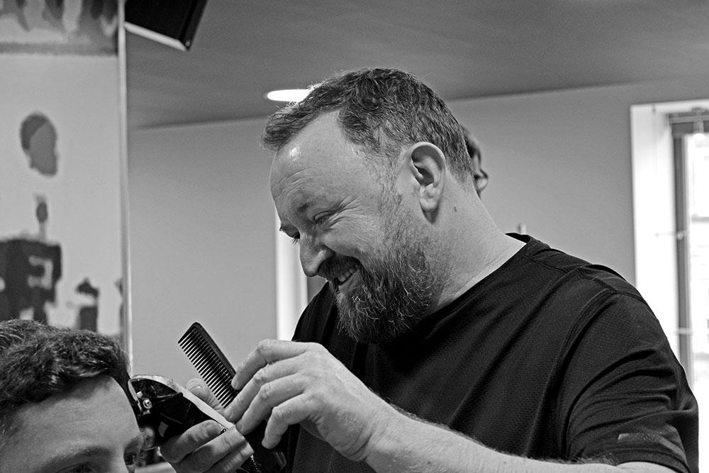 David at North For Men barbers in Guiseley